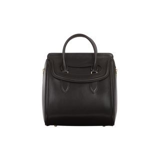 ALEXANDER MQUEEN MEDIUM LEATHER HEROINE Calf leather medium Heroine bag  with structured silhouette built on an expandable body with use of two  lateral ... 60c7c44144f