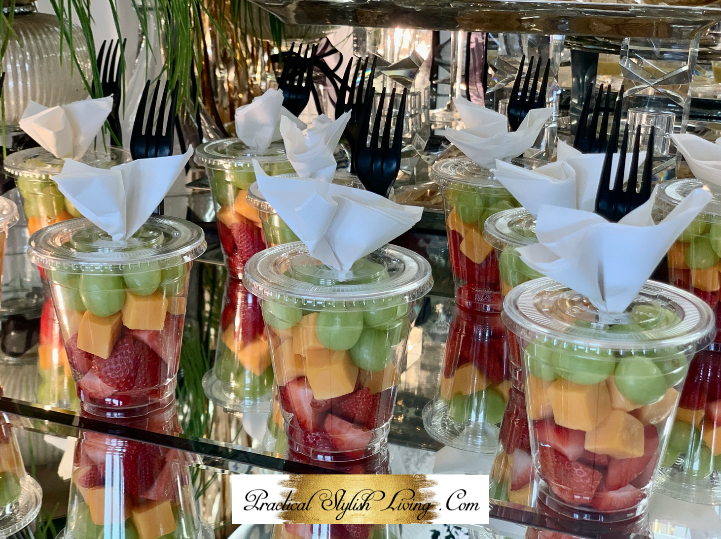 Easy Grab And Go Fruit And Cheese Cup Recipe Practical Stylish Living Party Food Buffet Food Shower Food