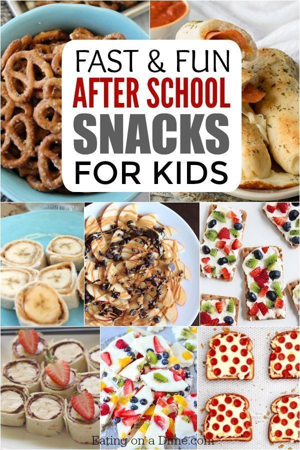 After School Snacks for Kids - 25 Fun AFter School Snacks images