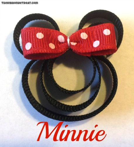 minnie mouse hair bow how to make