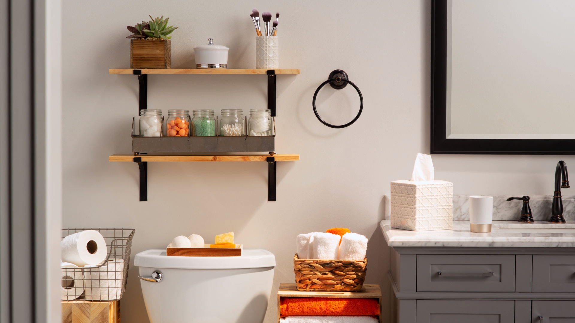 Photo of Ring in the new year with new bathroom storage solutions. The Home Depot has all…