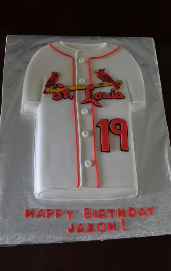 The New Uniform Jersey Of The St Louis Cardinals Cakes Sports