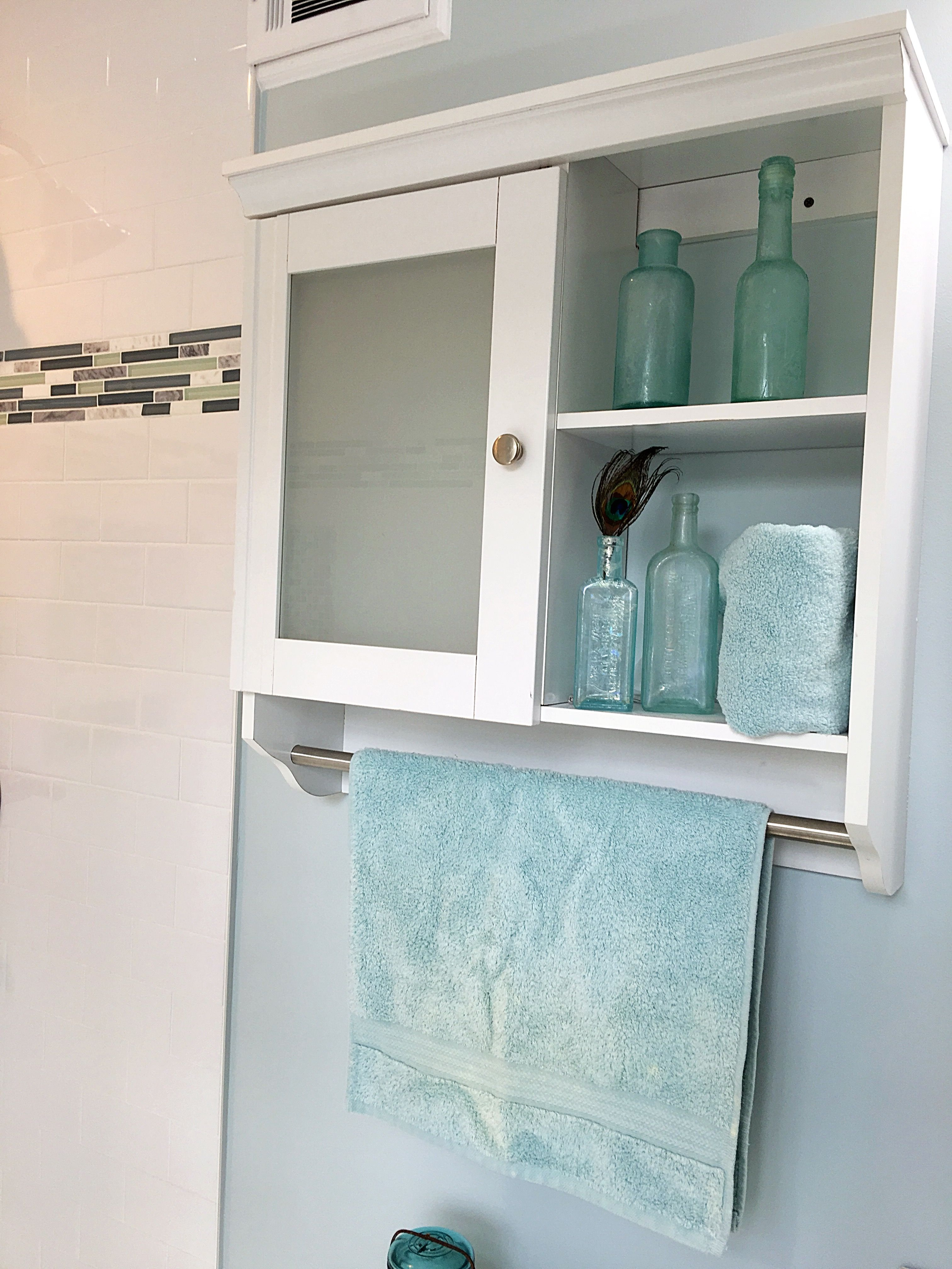 Purchased a stock shelf to use for storage and a towel hanger | My ...