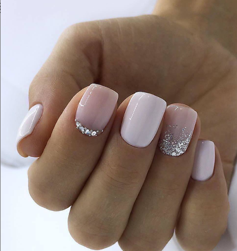 36 Sparkle Glitter Acrylic Nail Designs Ideas For Short Square Almond Nails Page 16 Of 36 Latest Fashion Trends For Woman Pink Gel Nails Short Square Acrylic Nails Square Acrylic Nails