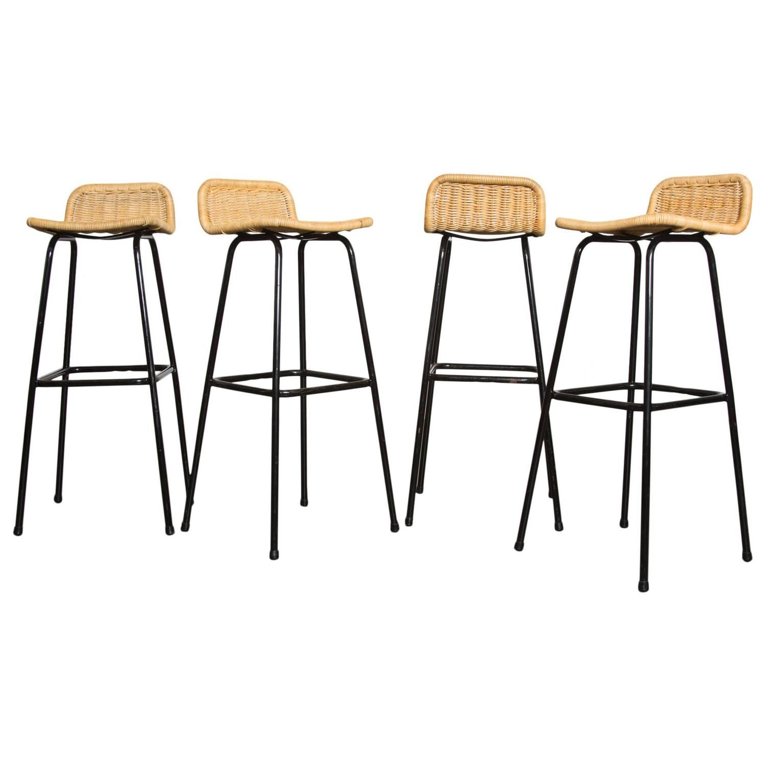Set of Four Charlotte Perriand Style Bar Stools | Pinterest