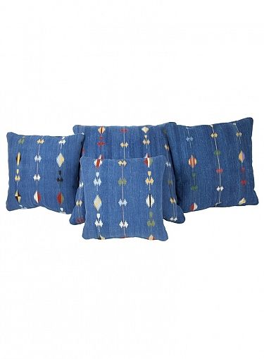 Serets.com : Blue Shooting Star Pillows - Group of Four - PLW1392