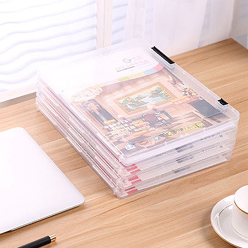 A4 Transparent Storage Box Clear Plastic Document Paper Filling Case File  PP Office Organizer Invisible Storage Cases #Affiliate