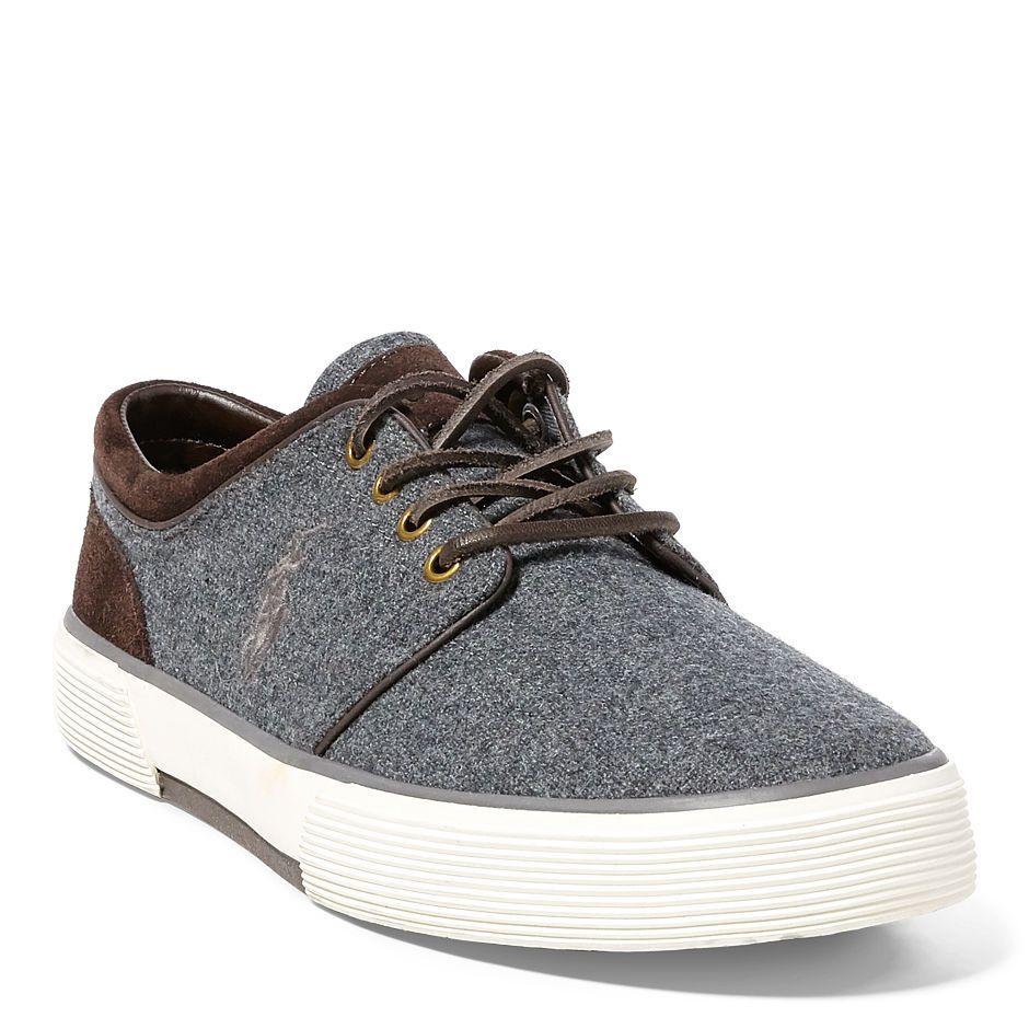 Faxon flannelsuede sneaker ralph lauren shoes pinterest ralph