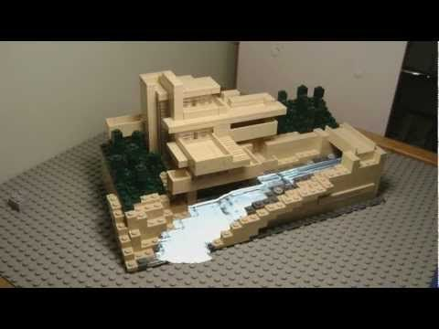 Frank Lloyd Wright Fallingwater House Over Waterfall Youtube