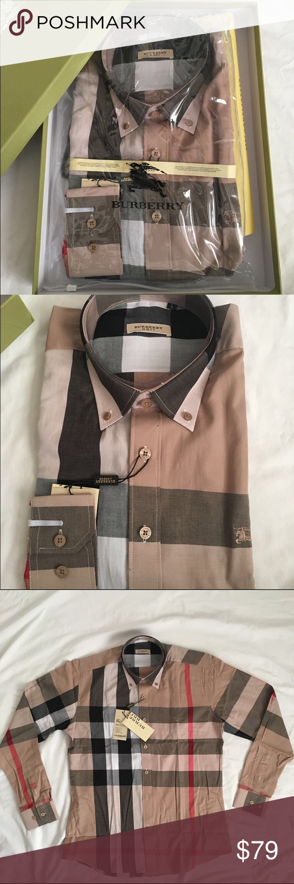 Burberry Mens Shirt Brand New Burberry Shirt For Men Come With
