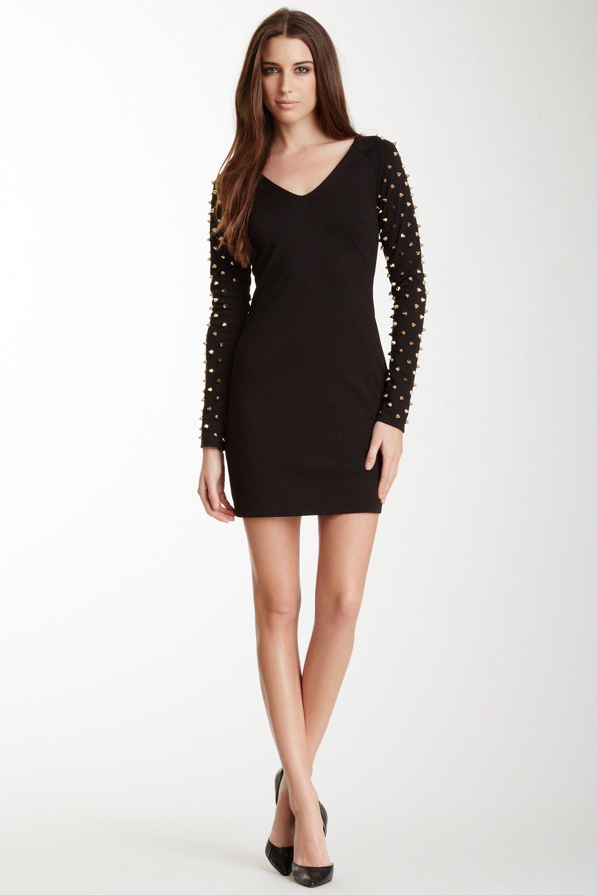 London Studded Sleeve Dress