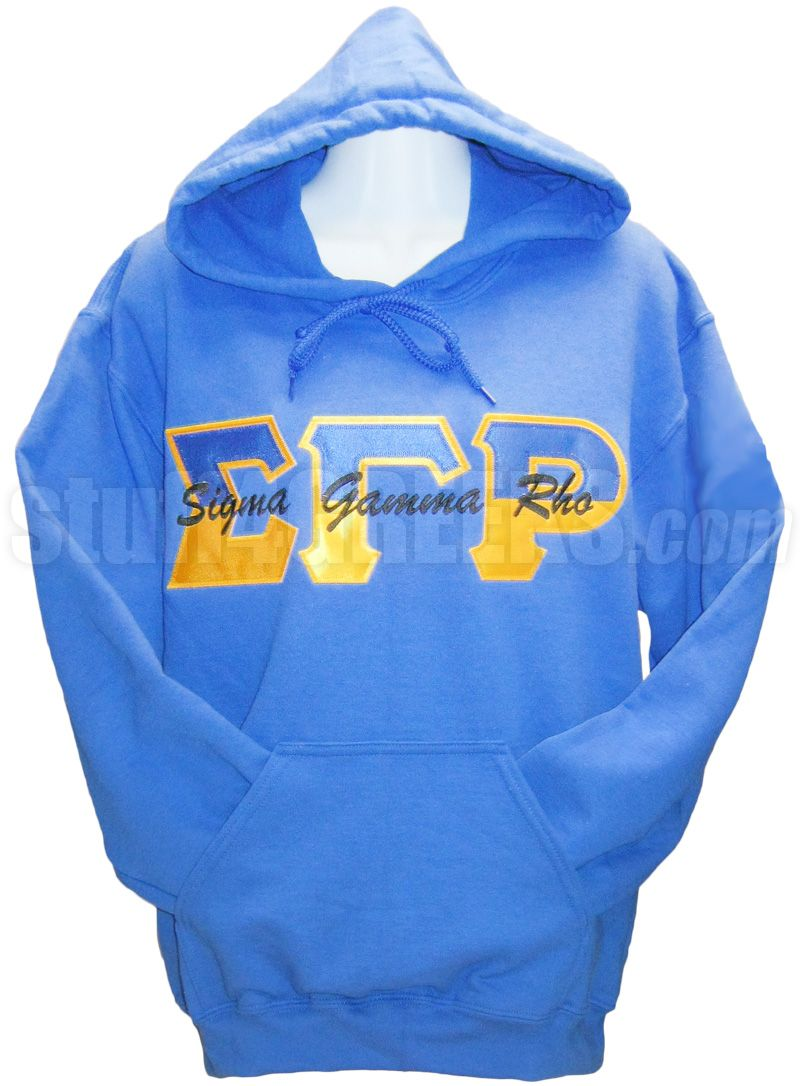 Gamma Split Sigma Gamma Rho Split Greek Letter Pullover Hoodie Sweatshirt With