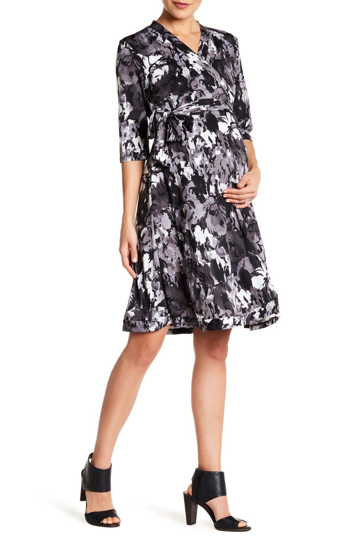 Everly Grey Maternity Mila Nursing Wrap Dress Maternity Wrap Dress Dresses Maternity Dresses [ 1800 x 1200 Pixel ]