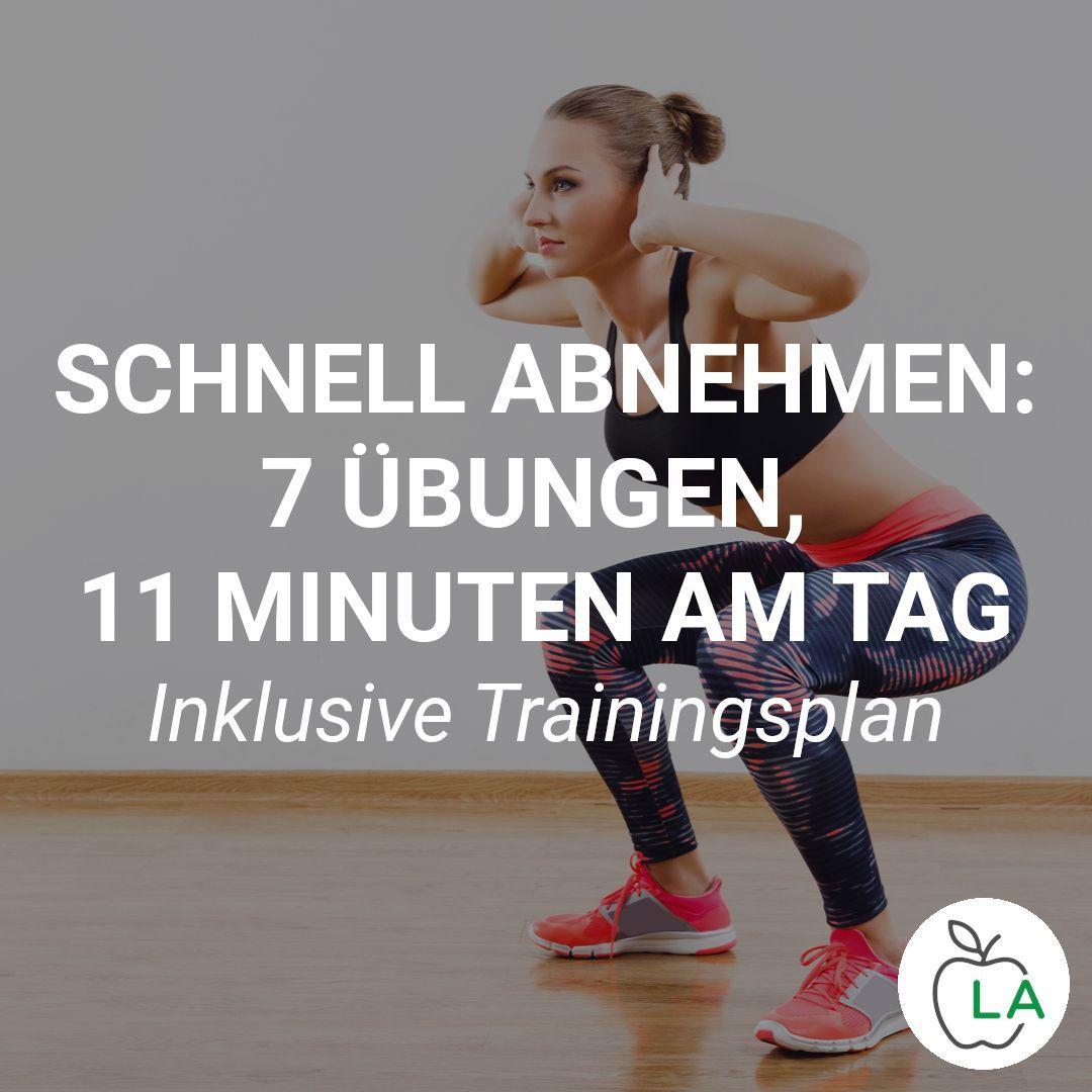 Schnell abnehmen: 7 effektive Übungen, 11 Minuten am Tag | Abnehmen on