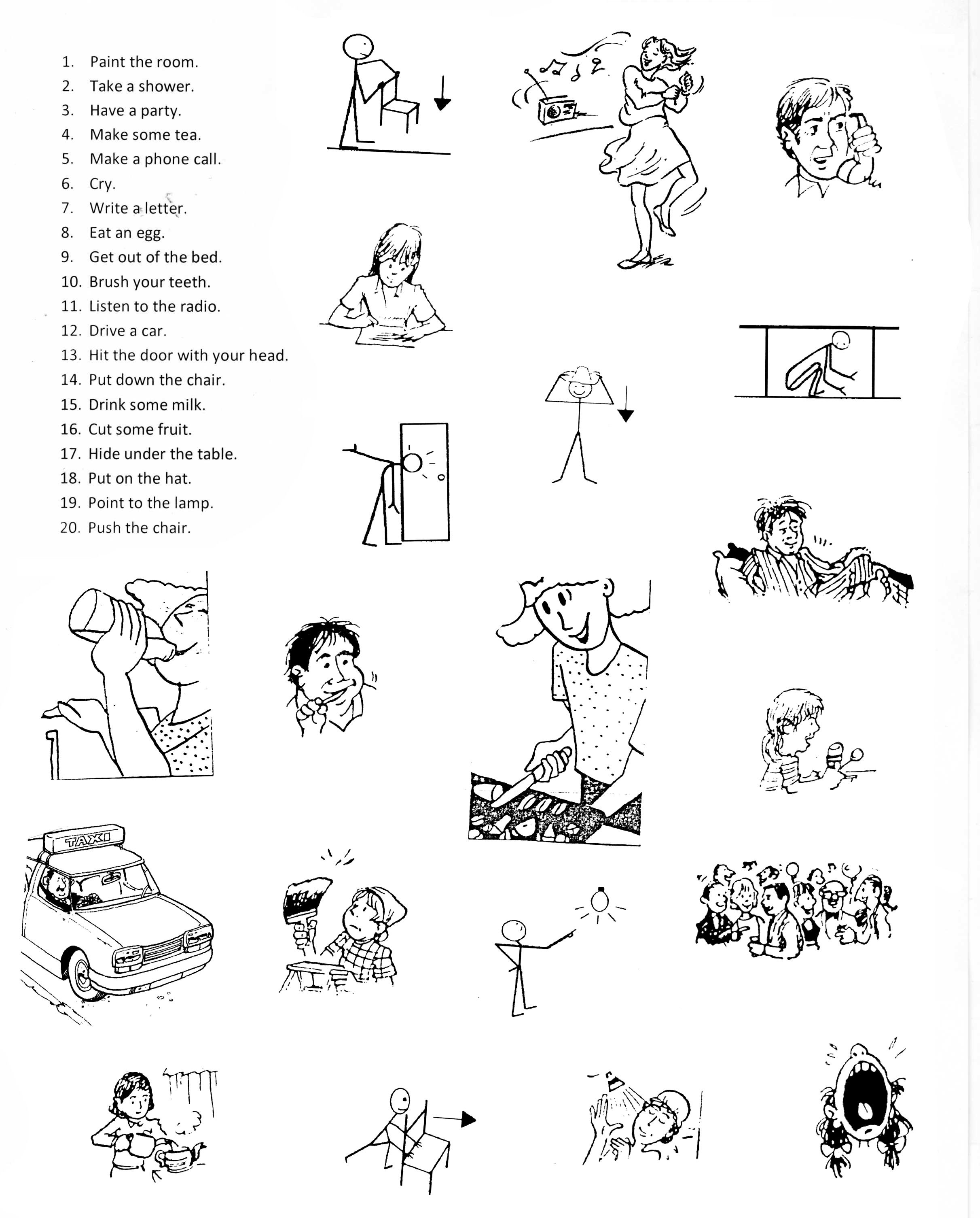 worksheet Esol Worksheets esl worksheets everyday activities verbs shared eflesl worksheets