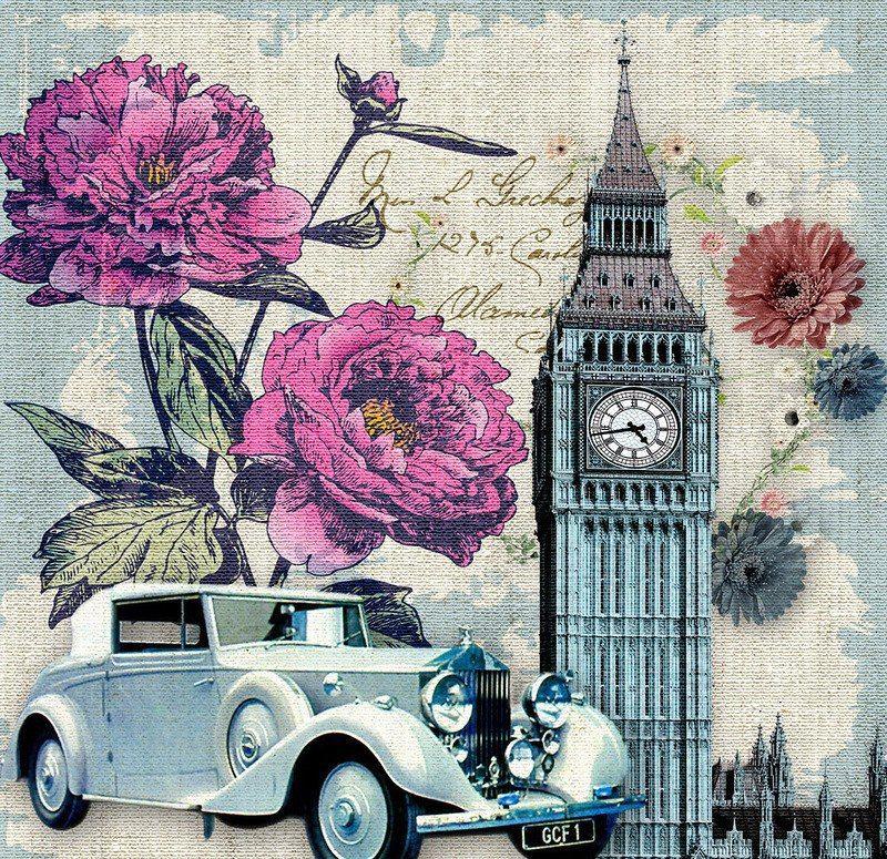 винтажные картинки коллажи цветами