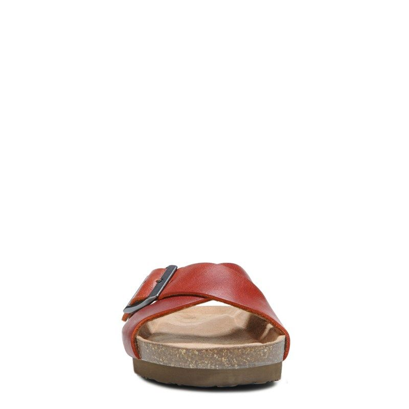 Eastland Women's Kelley Memory Foam Footbed Sandals (Orange Leather)