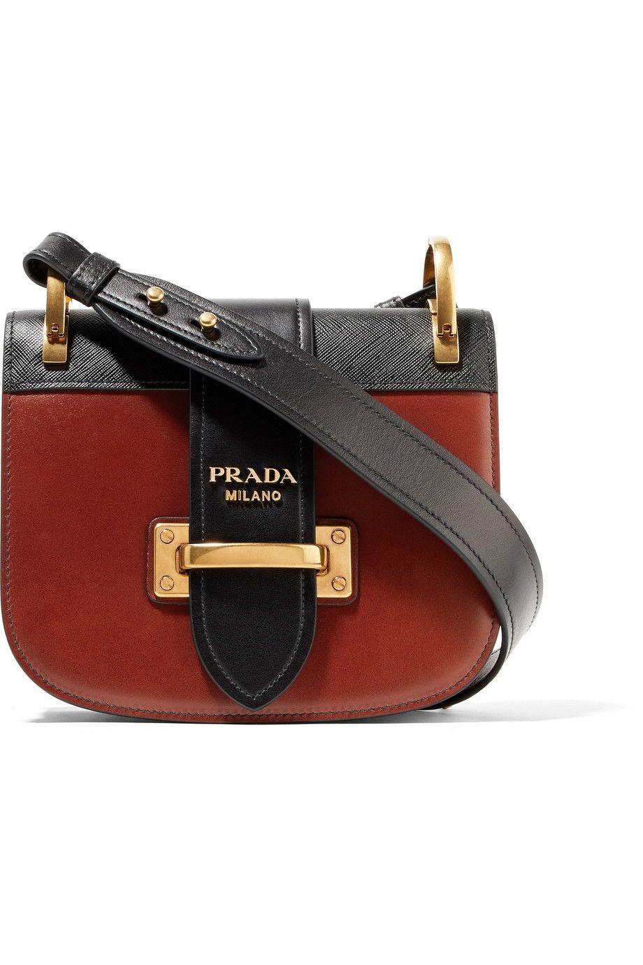 ef13f9f3d37e ... usa prada pionnière two tone leather shoulder bag net a porter 6df25  0823e