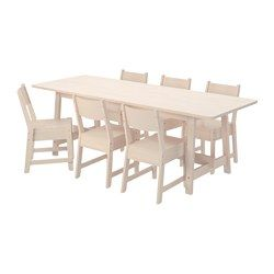 Norrker norrker birch sunflower kitchen and dining room sets norrker norrker table and 6 chairs white birch white birch ikea workwithnaturefo