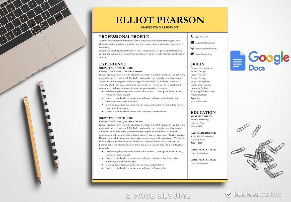 Professional Resume Google Docs Best resume template