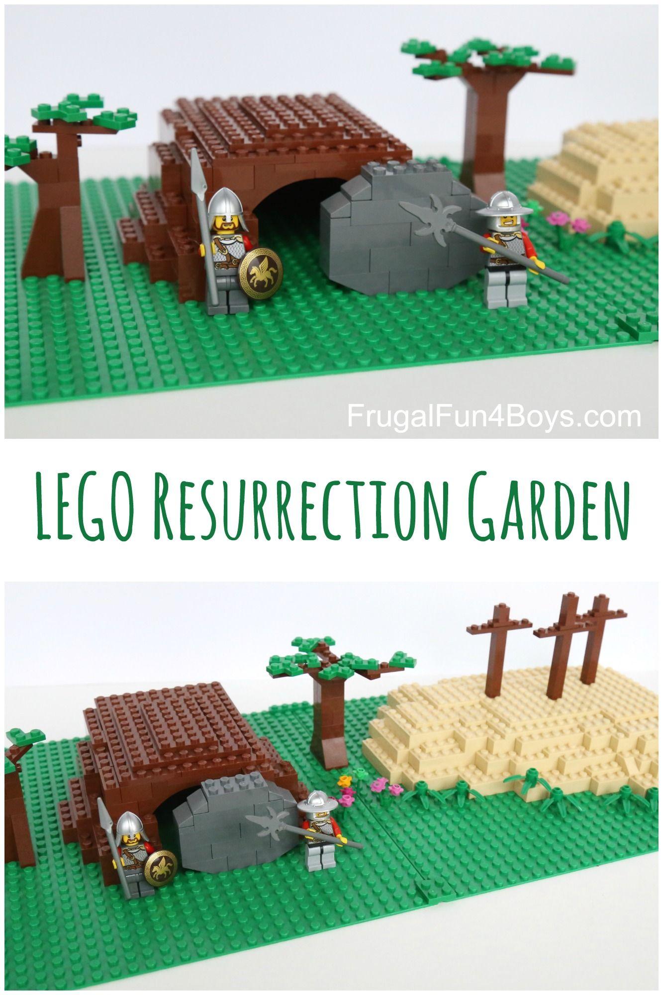 Build a LEGO Resurrection Garden | Kids building, Easter story and Lego