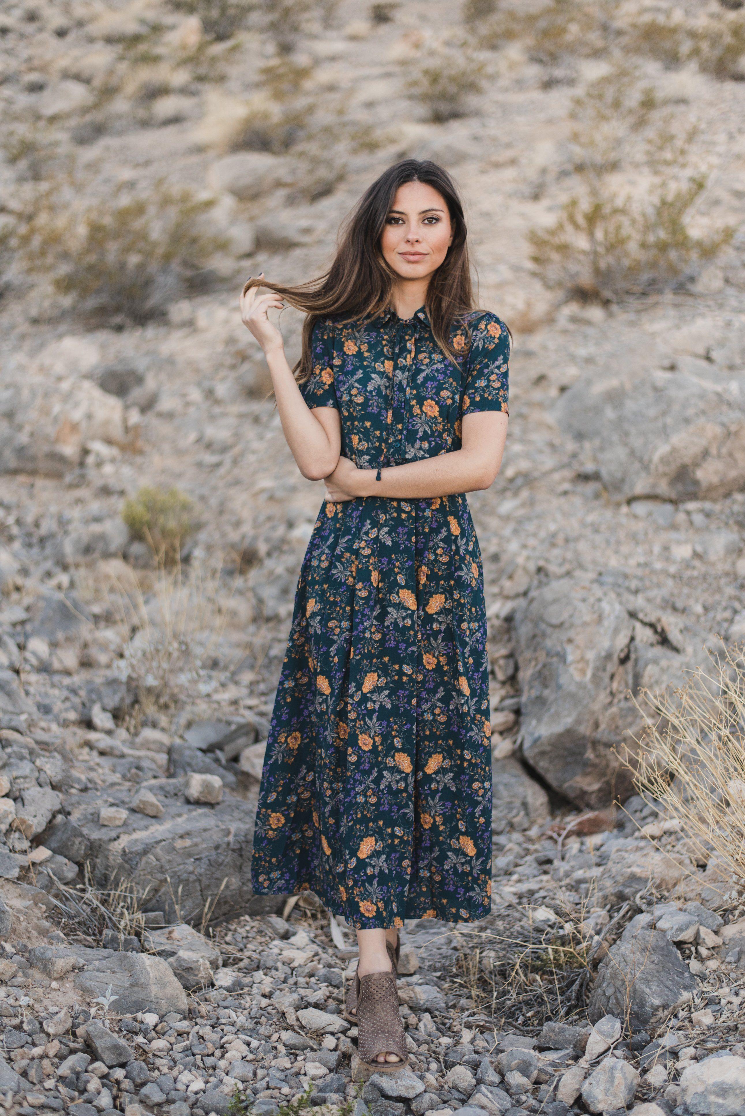 795b9615f1d5 THE ADELINE FLORAL MIDI DRESS | Pink Desert Fall | Floral midi dress ...