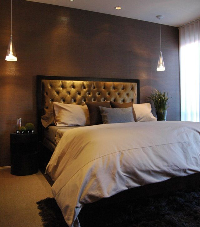 Romantic Dark Master Bedroom: A Little Bit How My Boyfriend's Room Looks. Pretty Fab
