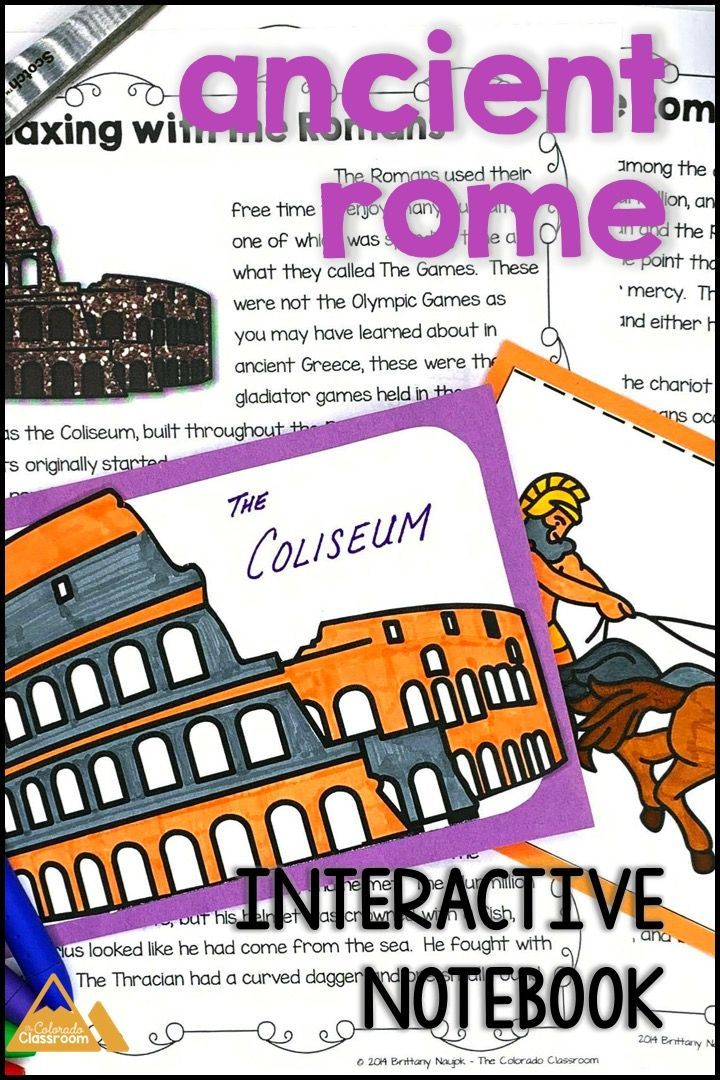 Ancient Rome Interactive Notebook   Interactive notebooks ...