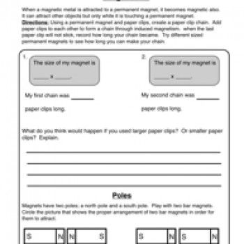 Magnetism - Magnets Worksheet 2 | Physical science and Worksheets