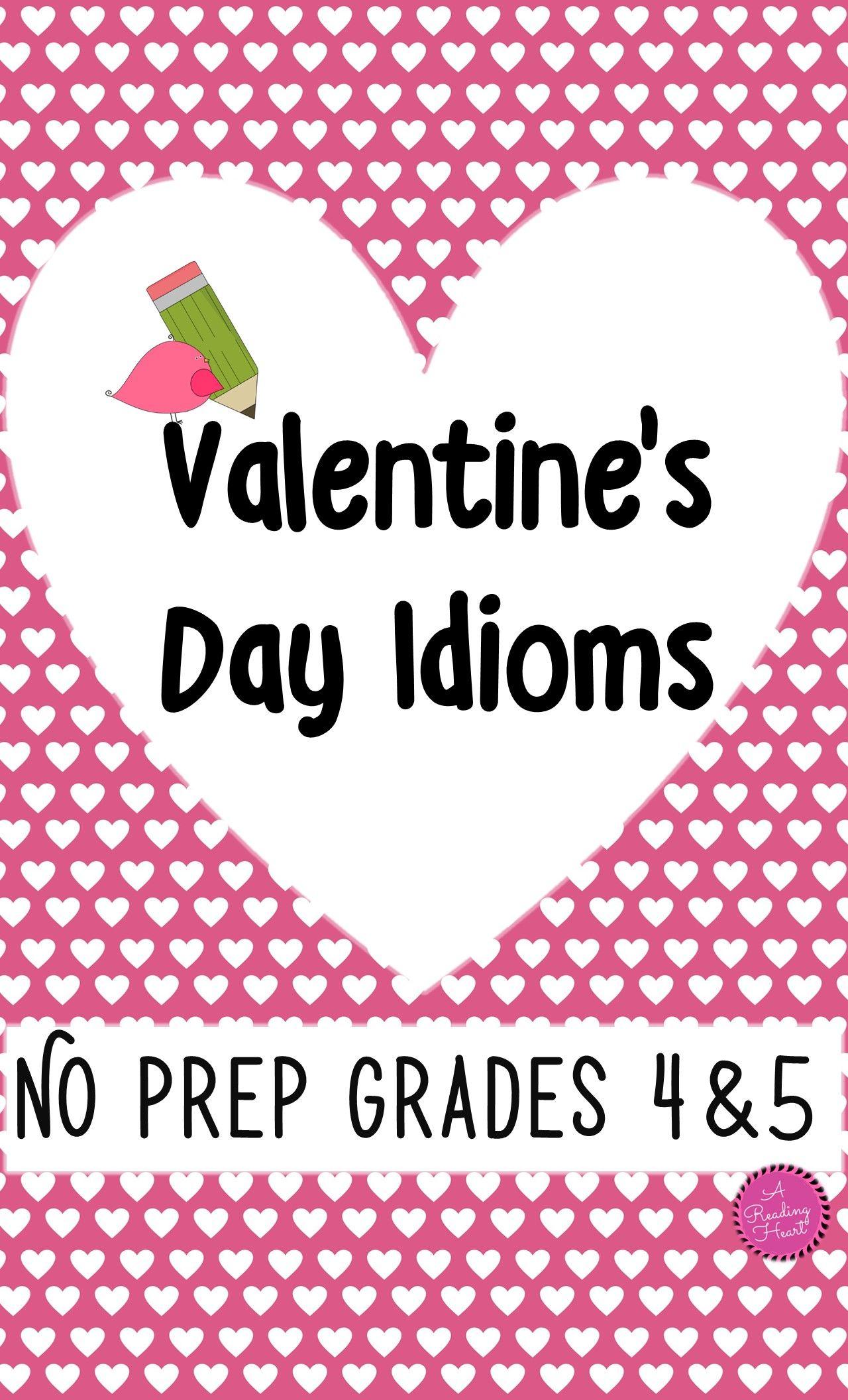 Valentine S Day Idioms Figurative Language