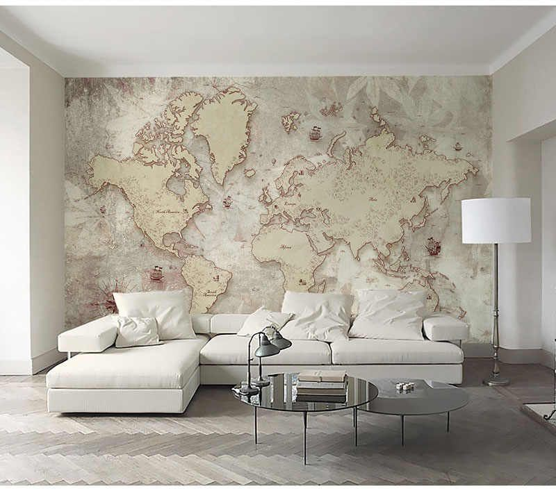 Large World Map Wallpaper Murals Decor 3d Wall Photo Mural For Living Room Sofa Background 3d World Map Wall Paper Murals Wallpapers Aliexpress World Map Wallpaper Map Wallpaper World Map Design #wall #paper #decorations #living #room