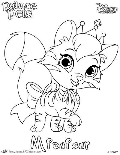free printable princess palace pet coloring page of midnight pinterest fluffy hair palace pets and blue coats