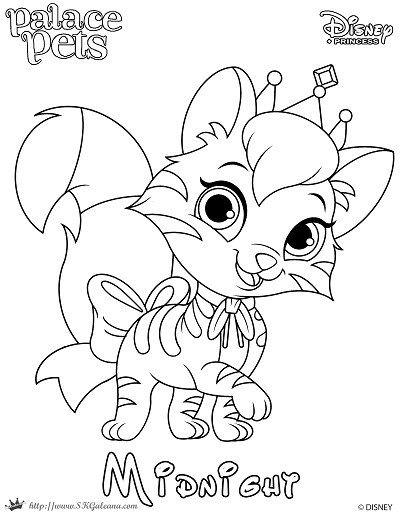 Free Printable Princess Palace Pet Coloring Page Of Midnight Princess Coloring Pages Disney Princess Coloring Pages Palace Pets