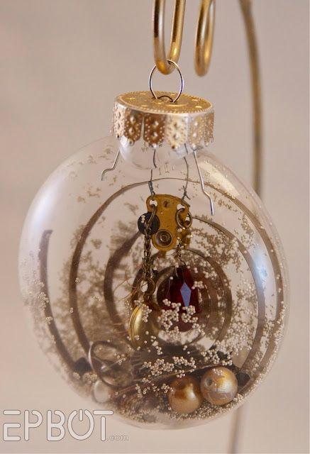 Easy do it yourself ornament mistletoe holly pinterest easy do it yourself ornament solutioingenieria Choice Image