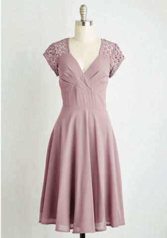 Put a Bard On It Dress in Dusty Lilac | Mod Retro Vintage Dresses | ModCloth.com