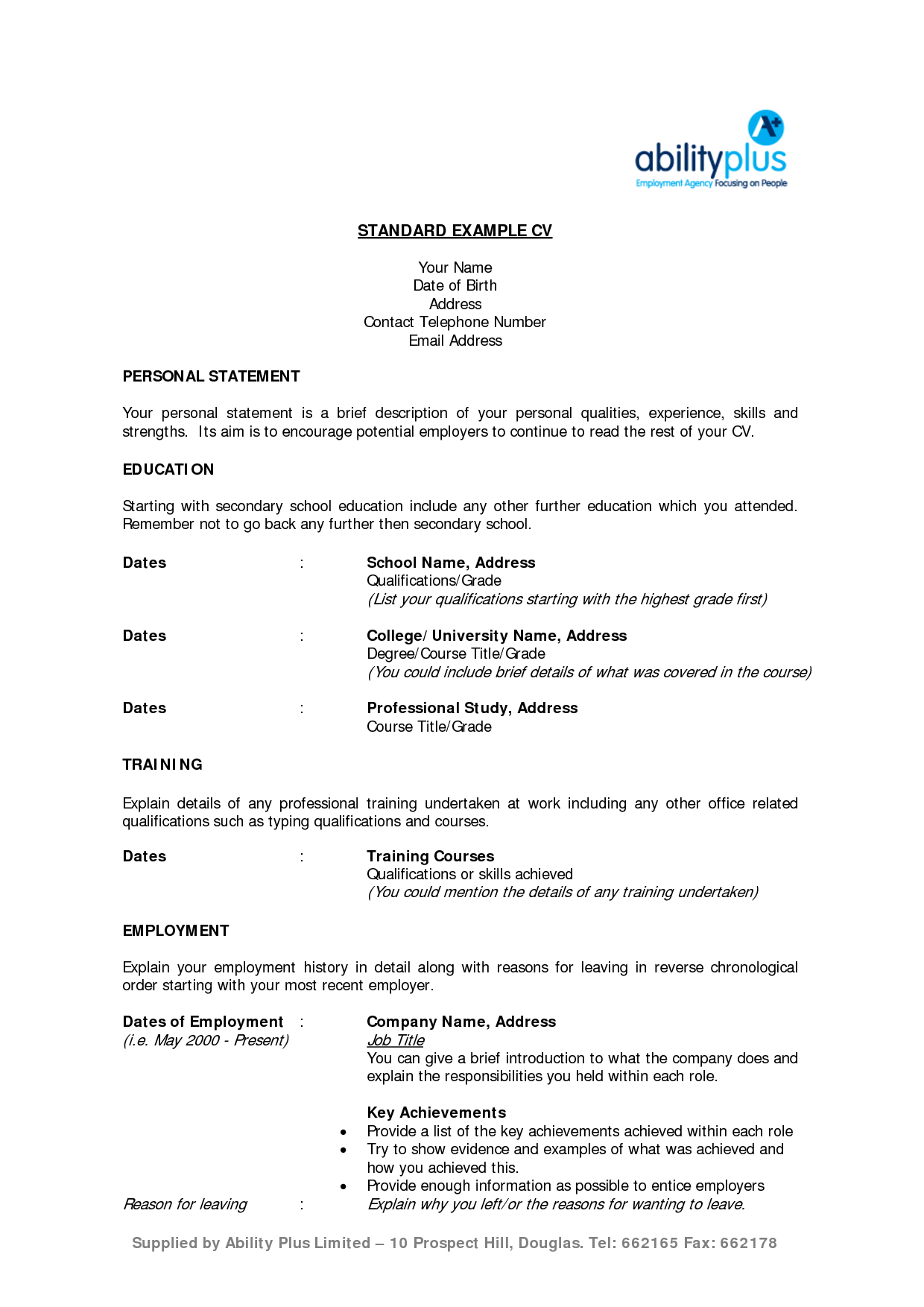 For Msc Zoology Resume Format Resume Format Resume Resume