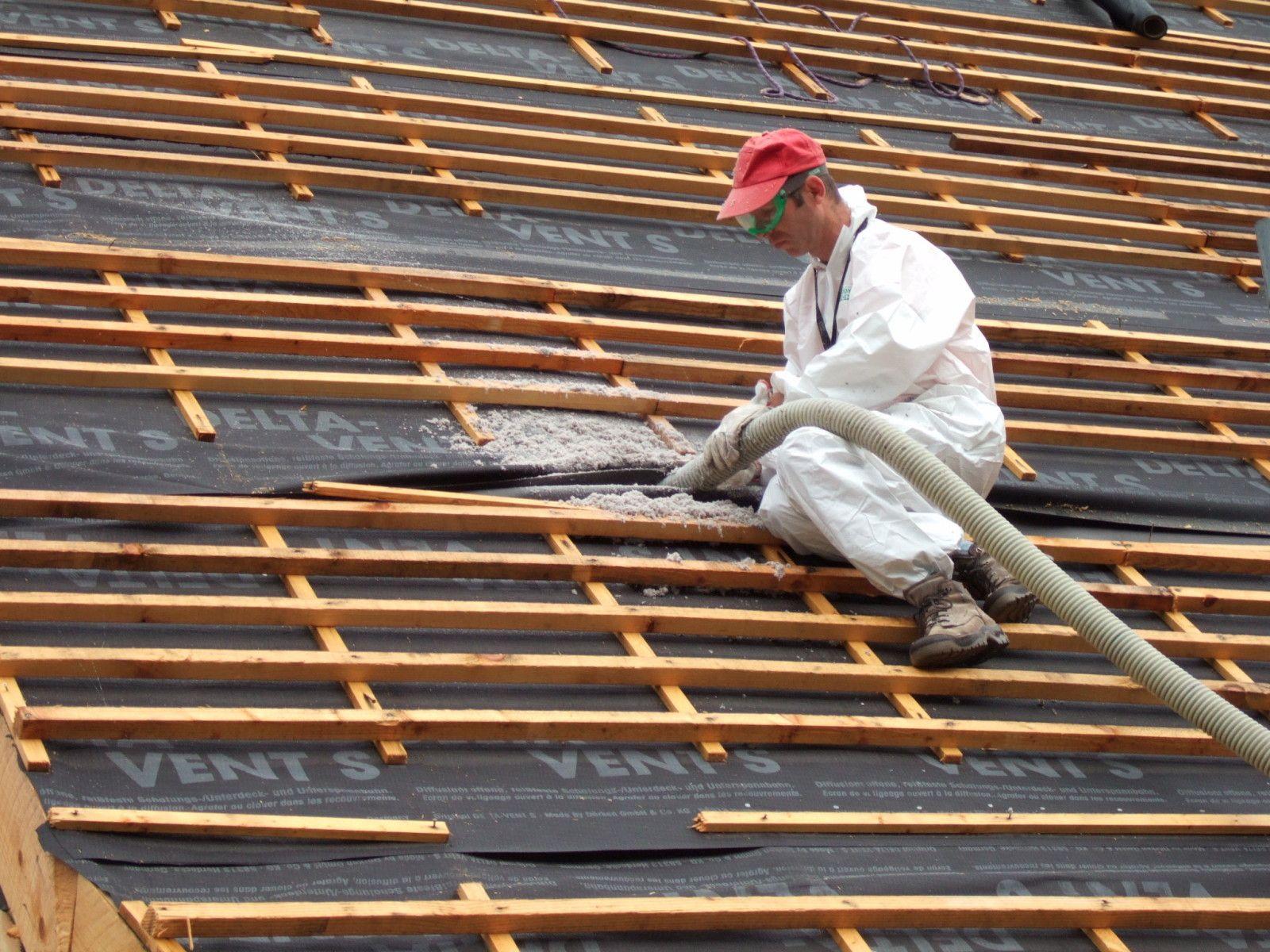 isolation du toit en ouate de cellulose chantiers de. Black Bedroom Furniture Sets. Home Design Ideas