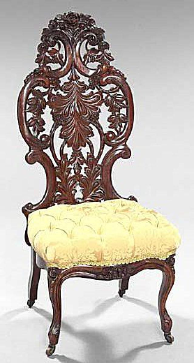 5 Revival Furniture Styles Popular in the Victorian Era Rococo Revival Style 1845-1865 : victorian chair styles - Cheerinfomania.Com