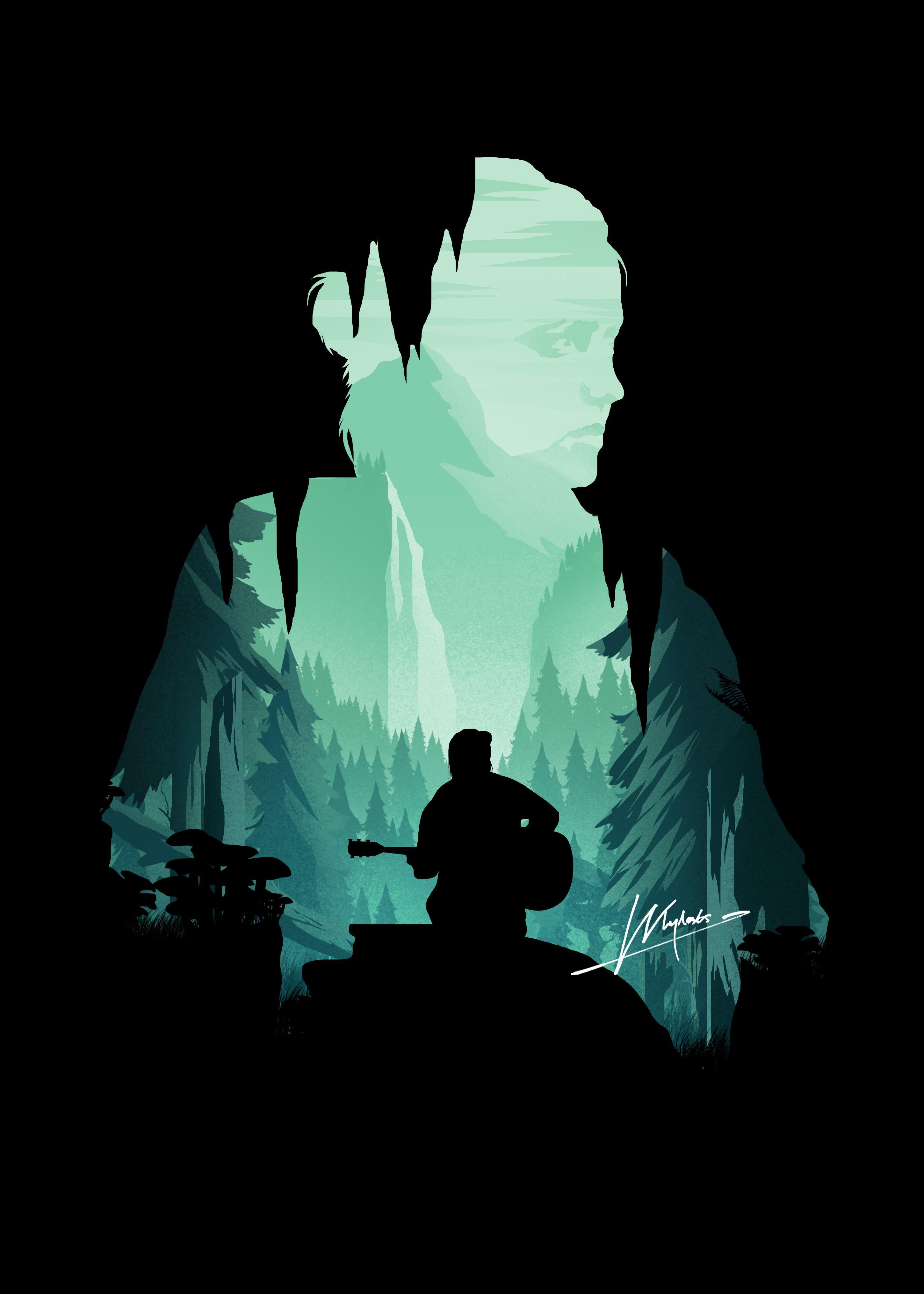 Ellie The Last Of Us 2 Minimalistic Poster Print Metal Posters
