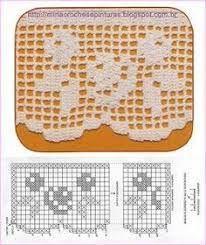 Resultado de imagen de barra toalha croche geometrico