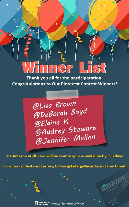 contest Thank you all for the participation and