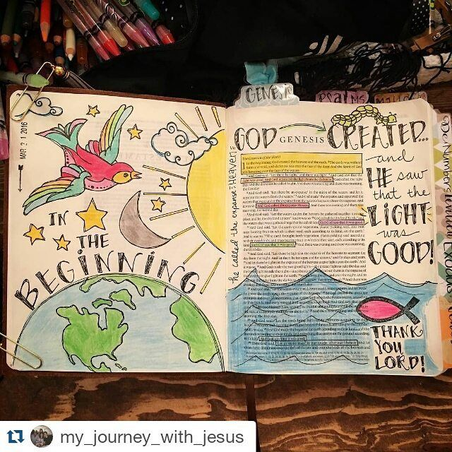 #Repost @my_journey_with_jesus with @repostapp ・・・ And he saw that the LIGHT was GOOD! ✨☀️✨ #genesis #biblejournaling #journalingbible #illustratedfaith #biblejournalingcommunity #thankyoujesus