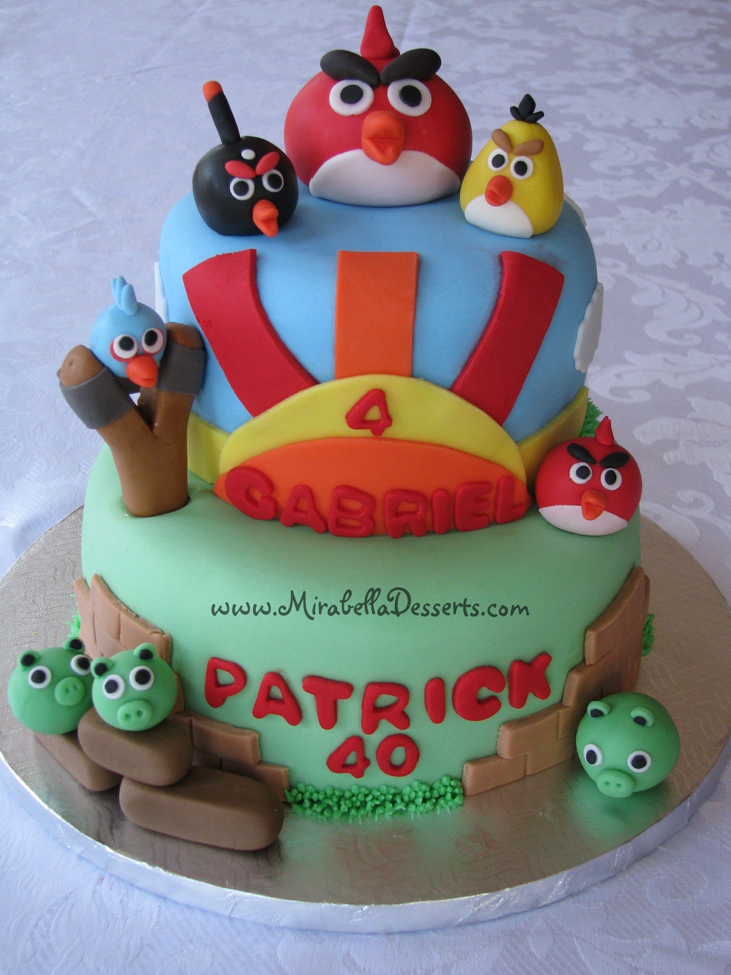 Angry Birds Cake - Angry Birds birthday cake