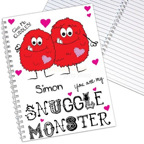 Personalised Snuggle Monster Notebook  from Personalised Gifts Shop - ONLY £6.95