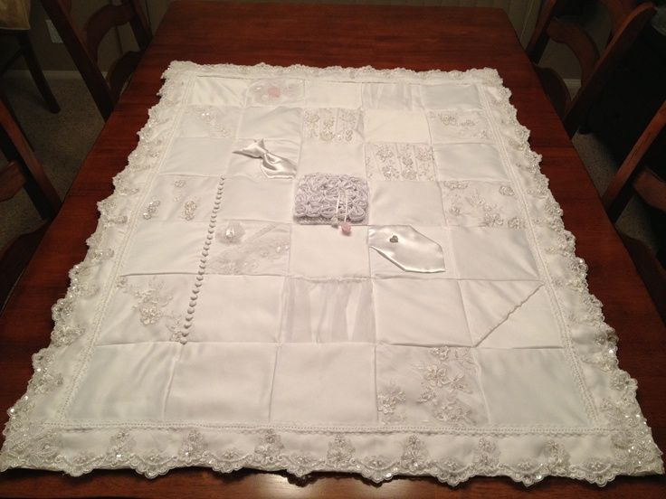 quilts from wedding gowns - Google Search | wedding dress quilts ... : wedding dress quilts - Adamdwight.com