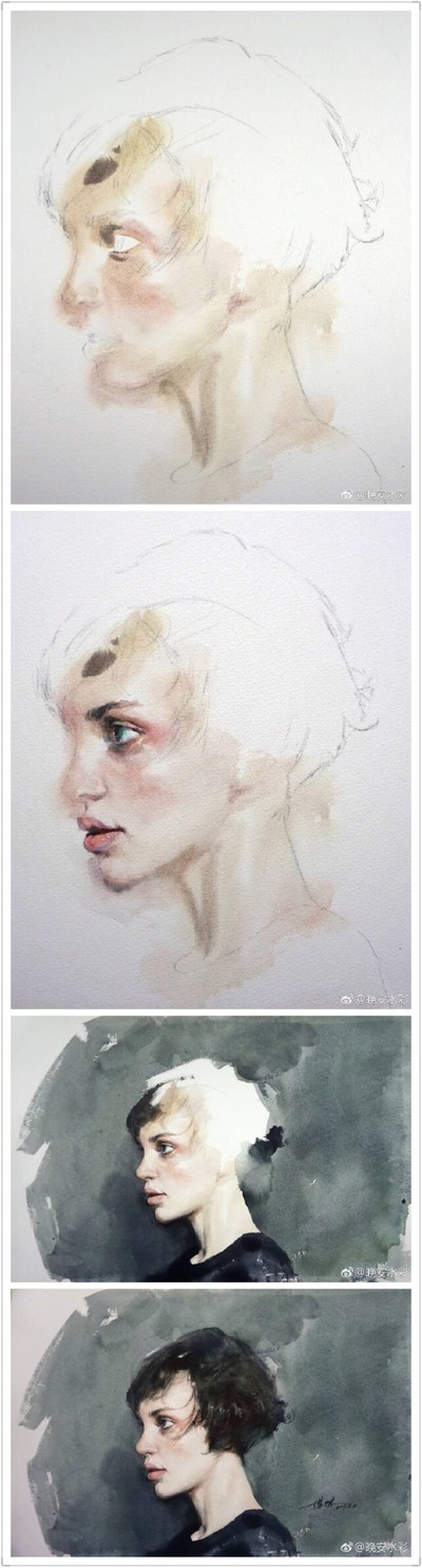 堆糖 美好生活研究所 Watercolor Portraits Watercolor