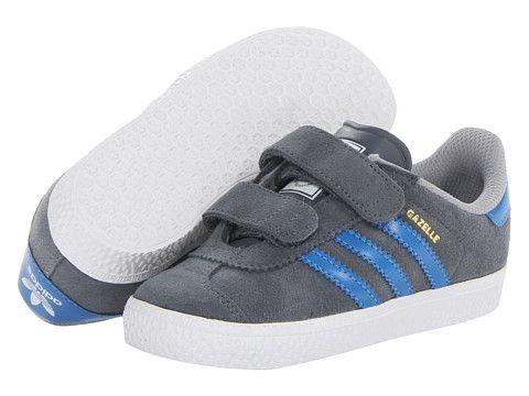 Adidas Originals Kids Gazelle 2 (Toddler) plomo / Bluebird / blanco