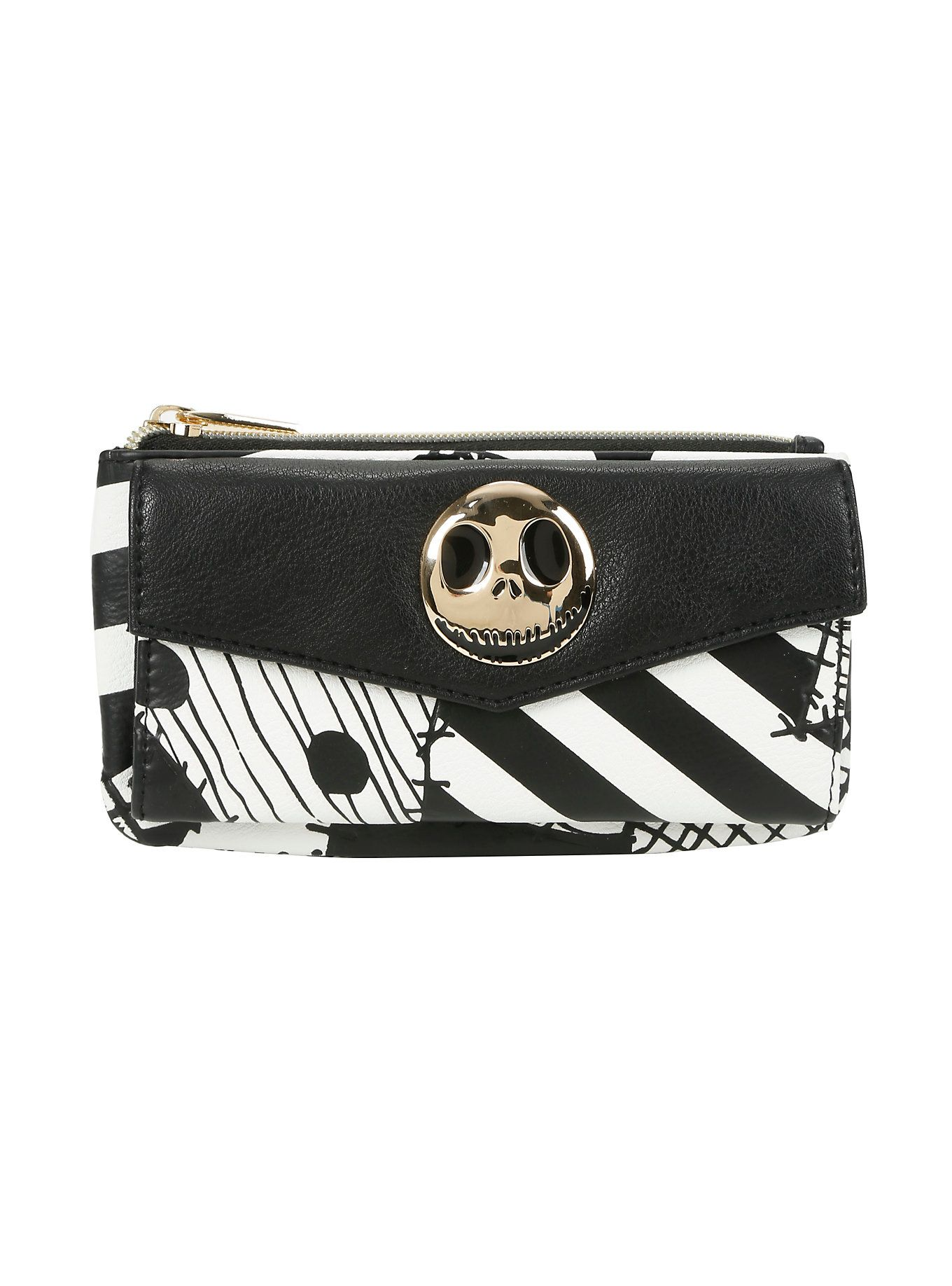 The Nightmare Before Christmas Jack Patchwork Flap Wallet | Love ...