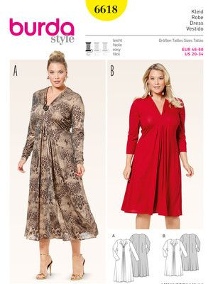 6618 ESB | Schnitte Kleider | Pinterest | Kleidung nähen ...