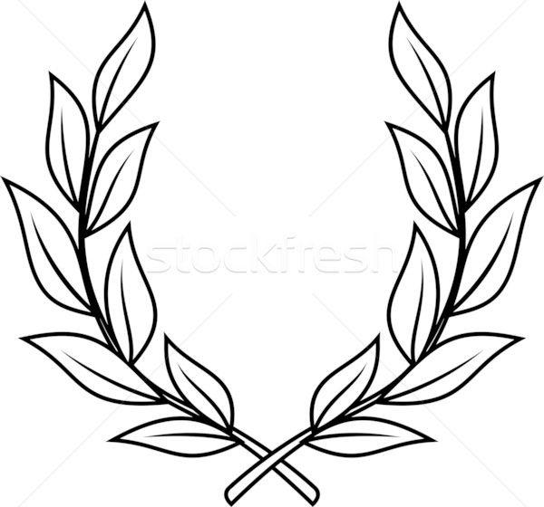 Laurel Wreath Vector Illustration Sketch Coloring Page Laurel Tattoo Wreath Tattoo Laurel Wreath Tattoo